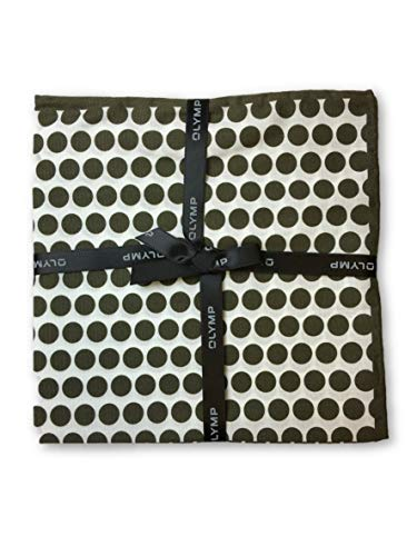 Olymp Pocket Square in brown dot pattern - ONE SIZE -