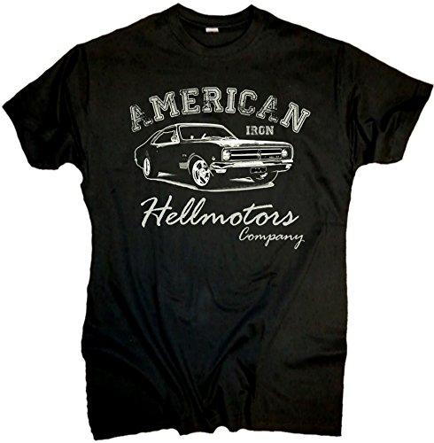 Iron Chevy V8 Männer Oldschool T-Shirt (XXL) (80er Jahre Mens Style)