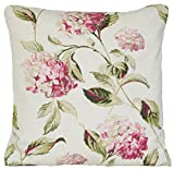 Hydrangea Cushion Cover Floral Decorative Pillow Case Laura Ashley Fabric Pink Green Scatter