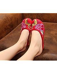 Y&M scarpe Belle ricamati, unico tendine, stile etnico, femminile caduta di vibrazione, modo, comodo, sandali , brown , 38
