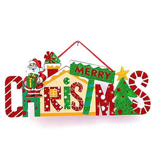 NiceButy Weihnachtsschmuck für zu Hause Dekorationen, geschmückte Weihnachtsbaum oder hängende Tür Dekorationen (Santa Claus) Dekoration hängt Zeichen