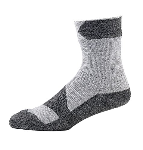 SealSkinz Walking Knöchel Socks-Grey Marl/Dark Grau, Mittel, Unisex, Walking, Grey Marl/Dark Grey, S -