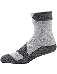SEALSKINZ 100 Percent Waterproof, Windproof and Breathable - Ankle Length Sock, Suitable for Walking, Camping, Hiking in All Weather Conditions