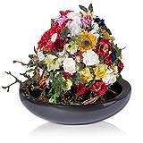 Pflanzkübel Pflanzschale TAPI Fiberglas - Farbe: grau metallic - stabile, winter- und wetterfeste Blumenschale geeignet für Garten, Terrasse und Innenräume, UV-resistent