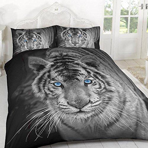 Hotel Qualität 100% Polyester Luxus Bettbezug Set Kissenbezug Bettwäsche Single Double King Größe–Home Schlafzimmer Dekor, tiger, Twin