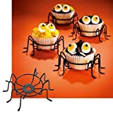 Cupcake Holder Metal Wire Spider Cupcake Stands Set of 4. The Perfect Cupcake Carrier. Halloween Decorations, Halloween Party Favors, Spiderman Party. by SPIDER CUPCAKE HOLDERS