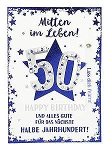 Depesche 3003.006Tarjeta de felicitación con Ornamento, 50cumpleaños