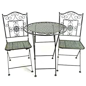 bistroset gartenm bel metall balkonset bistrotisch bistrost hle. Black Bedroom Furniture Sets. Home Design Ideas