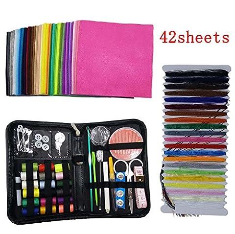 Misscrafts Premium 41 in 1 Sewing Kit + 42pcs 15cm*15cm