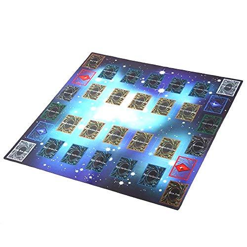 HKFV 60x60cm Gummi Spielmatte Ägypten Wand Stil Wettbewerb Pad für Yu-Gi-oh Karte Spiel König Zubehör Card Game Pad Play Mat Game King Zubehör Card Game Pad (Yugioh Spiele Karten)