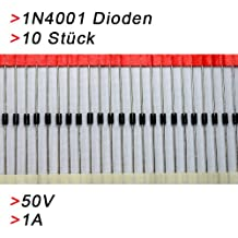 10x Gleichrichterdiode Diode 1N4001 1A 50V Diode Rectifier Dioden