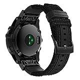 TOPsic Armband für Fenix 5X Zubehör Armband, Nylon QuickFit Uhrenarmband 26mm Ersatzband Armband für Garmin Fenix 5X/Fenix 5X Plus/Fenix 3/Fenix 6X/Fenix 6X Pro