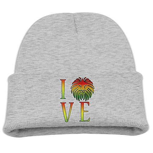 Bag shrots Kid's Rasta Lion Jamaican Reggae Love Winter Knit Cap Beanie Skull Cap (Jamaican Hüte)