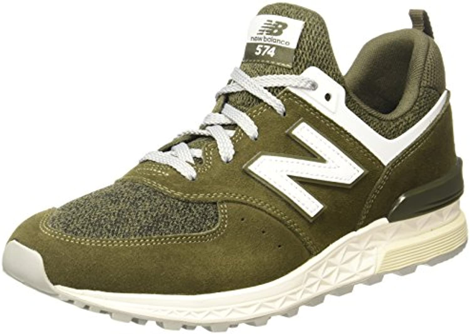 New Balance Men's 574 Sport Olive Sneakers