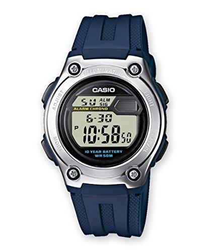 Casio Collection: W-211-2AV Standard 10 ans de batterie, série numérique (Juillet 2007 Model) Montre unisexe