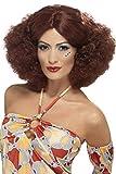 Smiffys Damen 70er Jahre Afro Perücke mit Mittelscheitel, Kastanienbraun, One Size, 43239