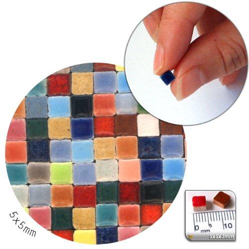 Mosaic Minis (5x5x3mm), 500Pieces, colourful mix, MXAL