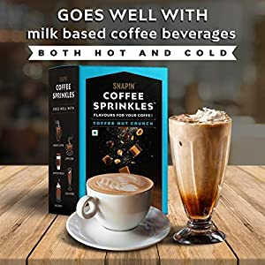 Coffee Sprinkles Toffee Nut Crunch – Flavours for Your Coffee Pouch 10 x 6 g