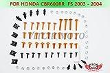 VITCIK Kit completo di carenatura viti bulloni per Honda CBR 600 RR F5 2003 2004 CBR 600 RR F5 03 04 Serraggio per moto, clip in alluminio CNC (Blu & Argento)