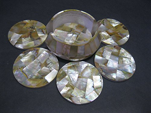 45-mother-of-pearl-marble-coaster-set-of-6-pcs-semi-precious-stones-inlaid-pietra-dura-marquetry-wor