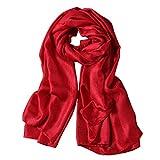 Scialle Scialle Mantello Sciarpa Stola - Donna 190*100 cm Rosso scuro
