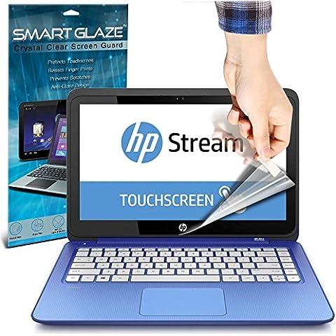 SmartGlaze ( Pack Of 3 ) HP Stream 13-c051sa 13.3 Touchscreen Laptop Protectores de pantalla del caso por encargo Crystal Clear LCD de Premium Packs Con paño de pulido y de
