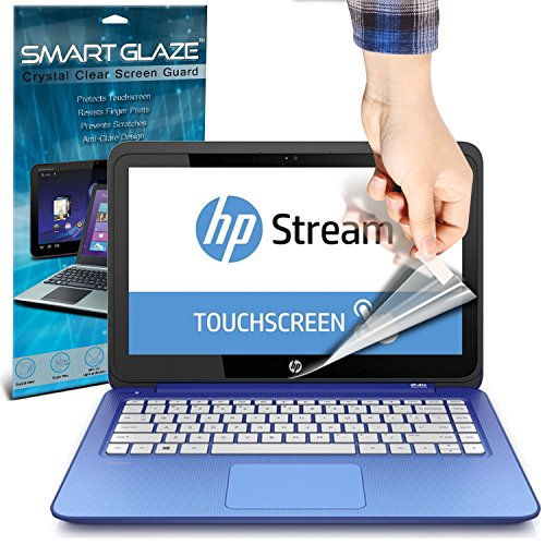 SmartGlaze ( Pack Of 10 ) HP Stream 13-c051sa 13.3 Touchscreen Laptop Protectores de pantalla del caso por encargo Crystal Clear LCD de Premium Packs Con paño de pulido y de