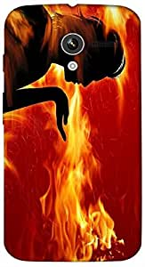 Timpax Light Weight Hard Back Case Cover Printed Design : A man of fire.Specifically Design For : Motorola Moto-X ( 1st Gen )