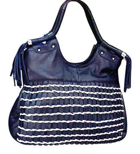 Clutch Borsa a Tracolla Donna Messenger Vintage Borse Pelle Spalla Tote  Piccolo Blu Blue bafcfddf36f