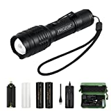 CREE LED Torch Light PROZOR Handheld Super Bright T6 LED Flashlight USB Rechargeable 18650 battery Camping Torch with Camping Box Waterproof Zoomable Flashlight with 7 Modes