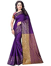 Nirja Creation Cotton Silk Saree With Blouse Piece (Nc-Ac-005_Blue_Free Size)