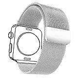 Bandmax Milanaise Uhrenarmband Ersatzarmband mit Magnetverschluss Hochwertiger Edelstahl Wrist...