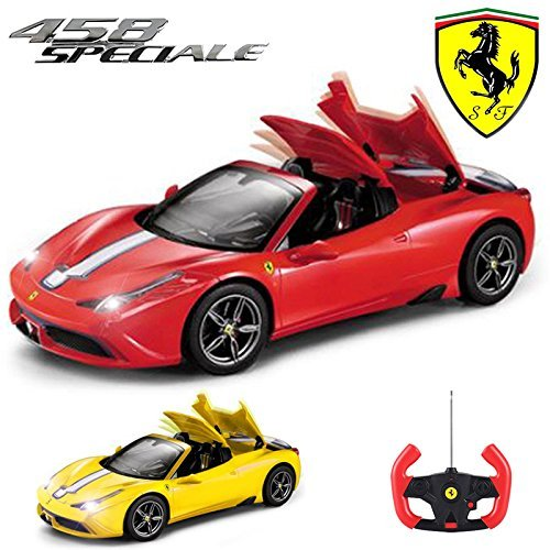 518yd15 0PL BEST BUY #1Comtechlogic® CM 2201 Official Licensed 1:14 Ferrari 458 Italia Speciale Spider Radio Remote Controlled RC ElectricCar with Fully Remote Controlled Roof Mechanism   Ready to Run EP RTR (RED) price Reviews uk
