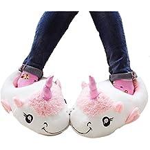 Chaussons Adulte Pantoufles Femmes Hiver Fantaisie IntéRieur Chaussure Femme De Marque Chaussure Plus Taille 36-41,bleu,40