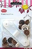 WENCO 622 253 Jeansknöpfe Ø17 mm - 8 Jeans-Hosenknöpfe mit Werkzeug - Farbe: altbronze [Ersatzknöpfe, Metallknöpfe] (WENCO Qualitäts-Kurzwaren)