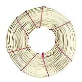 Rayher Hobby 6502300 Peddigrohr, natur, 1A Rotbandqualität, 2 mm ø, Nr. 3, Rolle 125 g (ca. 70 m), Flechtrohr, Flechtmaterial