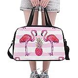 Plosds rosa Ananas mit Flamingo benutzerdefinierte große Yoga Gym Totes Fitness Handtaschen Reise...