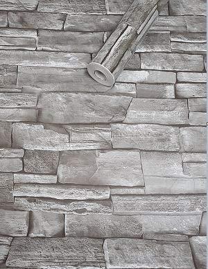 Visario Tapeten Folie 3000-S selbstklebend 10m x 45cm 5 Motive Steinoptik Schiefer grau Dekorfolie Möbelfolie Tapete 3017