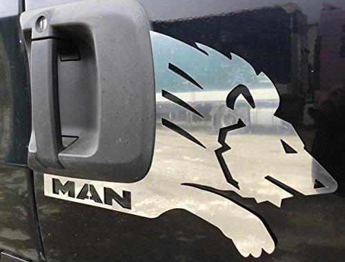 2-pezzi-in-acciaio-inox-lucido-porta-pannello-lion-decorazioni-per-man-tga-tgx-trucks
