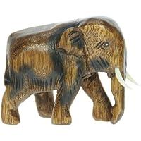 Intagliato piccola mano in legno elefante Ornamento: Top di Natale