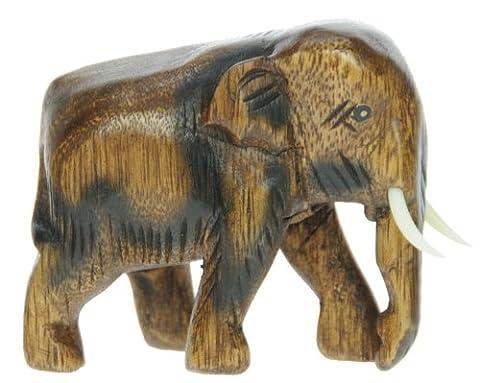 Petite main en bois sculpté éléphant ornement: Top Noël et