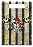 Piraten Geburtstagstüten, Red Pirate, Piraten Party 8 Stück