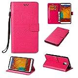BoxTii Galaxy Note 3 Hülle [mit Frei Panzerglas Displayschutzfolie], Stoßdämpfende Schutzhülle mit Karte Halter & Handschlaufe, Bumper Handyhülle für Samsung Galaxy Note 3 (#4 Pink)