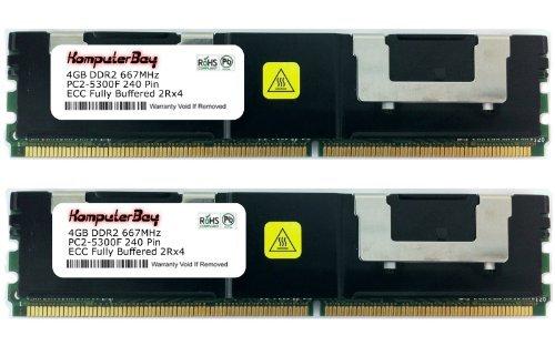 KOMPUTERBAY 8 GB PC2-5300 cl 5 Voll gepuffertes ECC Kit 72 x DDR2-667 1,8 V 512Meg 4 GB x 2 8 GB -