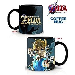 Leyenda de Zelda- Zelda aliento de la Wild café Mug-, 567g).