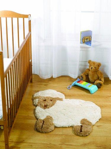 Flair Rugs Chambre d'enfant en Forme de Little Lamb Tapis pour Enfant, Naturel, 75 x 80 cm