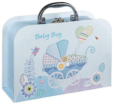 Idena 30211 Geschenkkoffer, Geschenkbox, Geburt Junge Baby Boy, blau