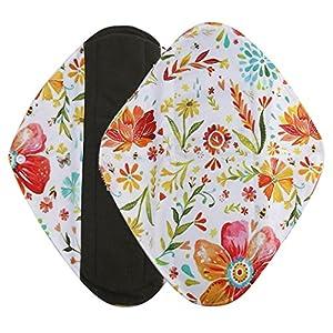 Washable Sanitary Pad,Native99 Reusable Bamboo Cloth Menstrual Pad Sanitary Towel