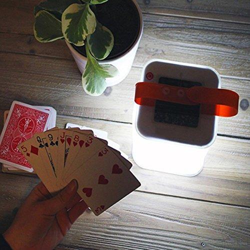 ThinxMax Solar Licht Wasserdichte Outdoor Laterne Protable für Garten Hof Camping Wandern Faltbare Aufblasbare Würfel 3 Modi LED Lampe (Protable-batterie)