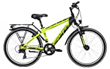 Yazoo Jugend Fahrrad 24 Zoll schwarz/gelb Devil 2.4 Kinderrad - Shimano Kettenschaltung, Nabendynamo